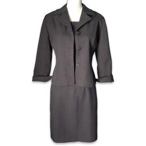 Trio New York 2 piece gray sheath dress suit